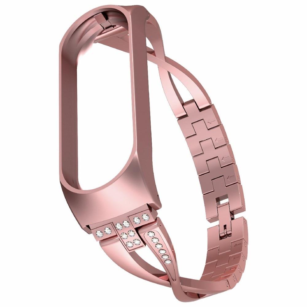 Crystal Bracelet Xiaomi Mi Band 3/4 Rose Gold