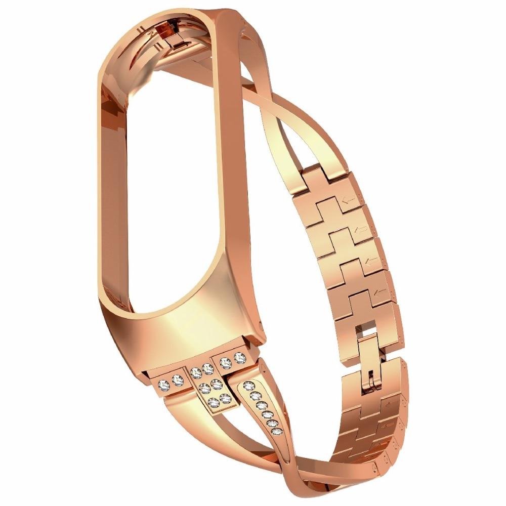 Crystal Bracelet Xiaomi Mi Band 3/4 Gold