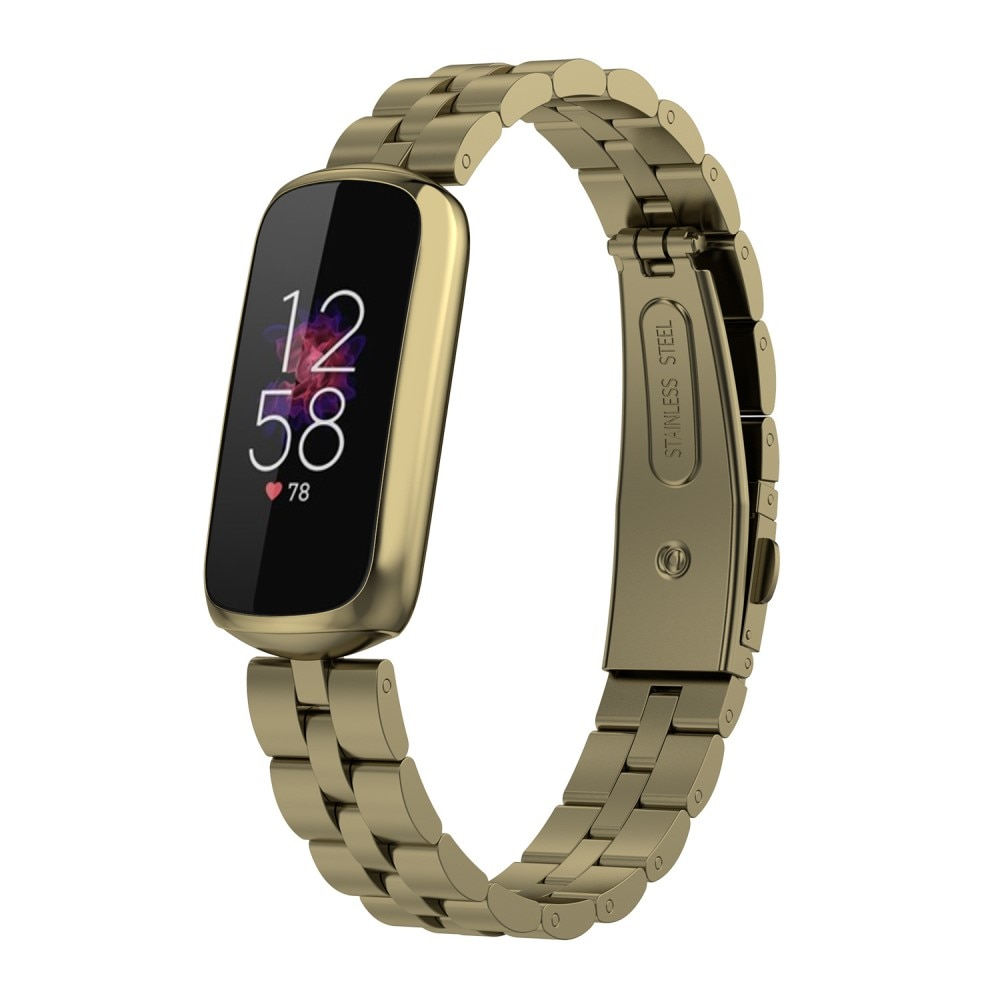 Metalliranneke Fitbit Luxe kulta