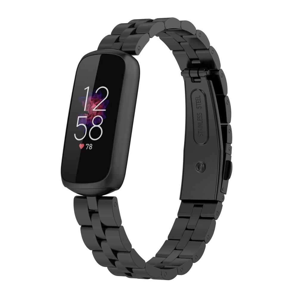 Metalliranneke Fitbit Luxe musta