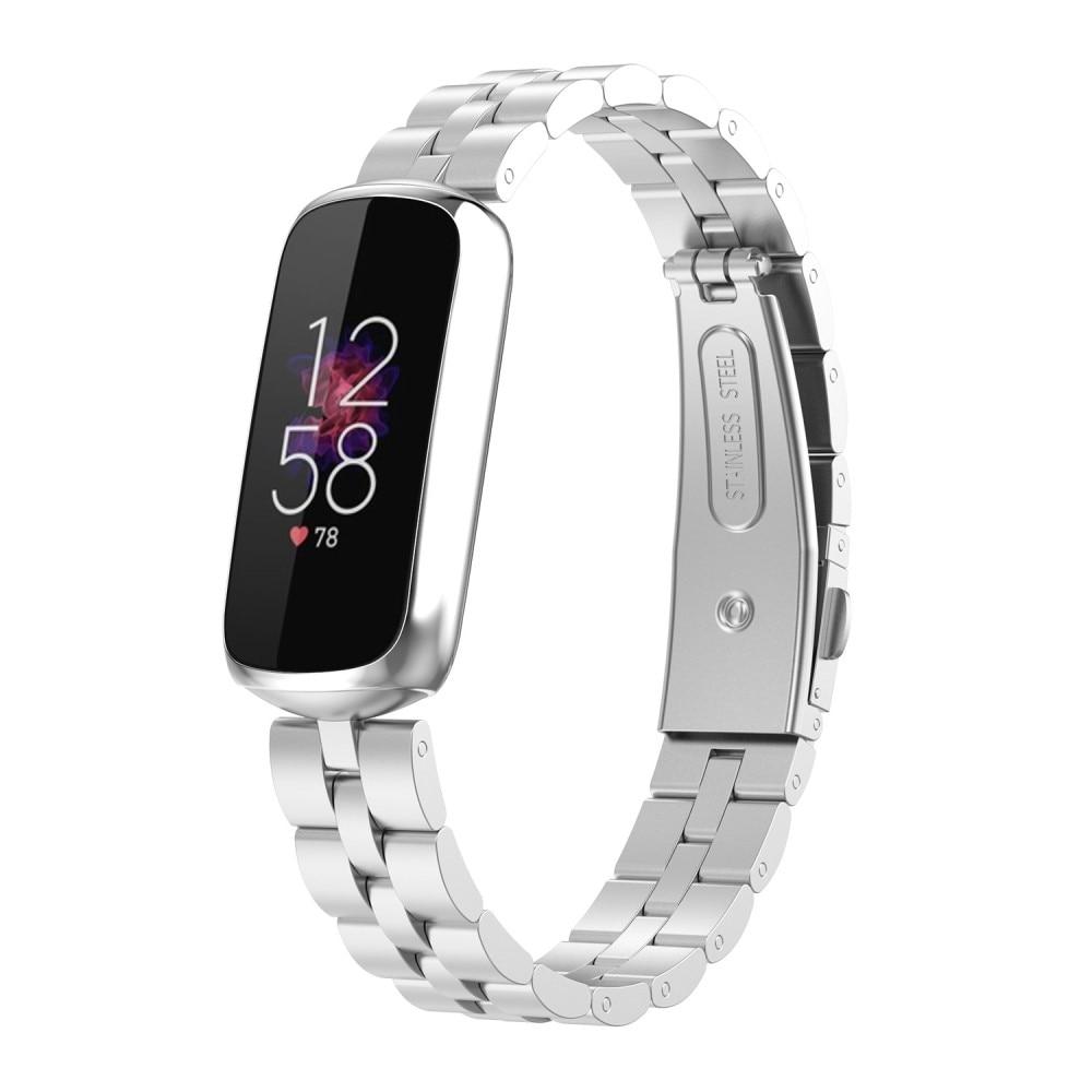 Metalliranneke Fitbit Luxe hopea