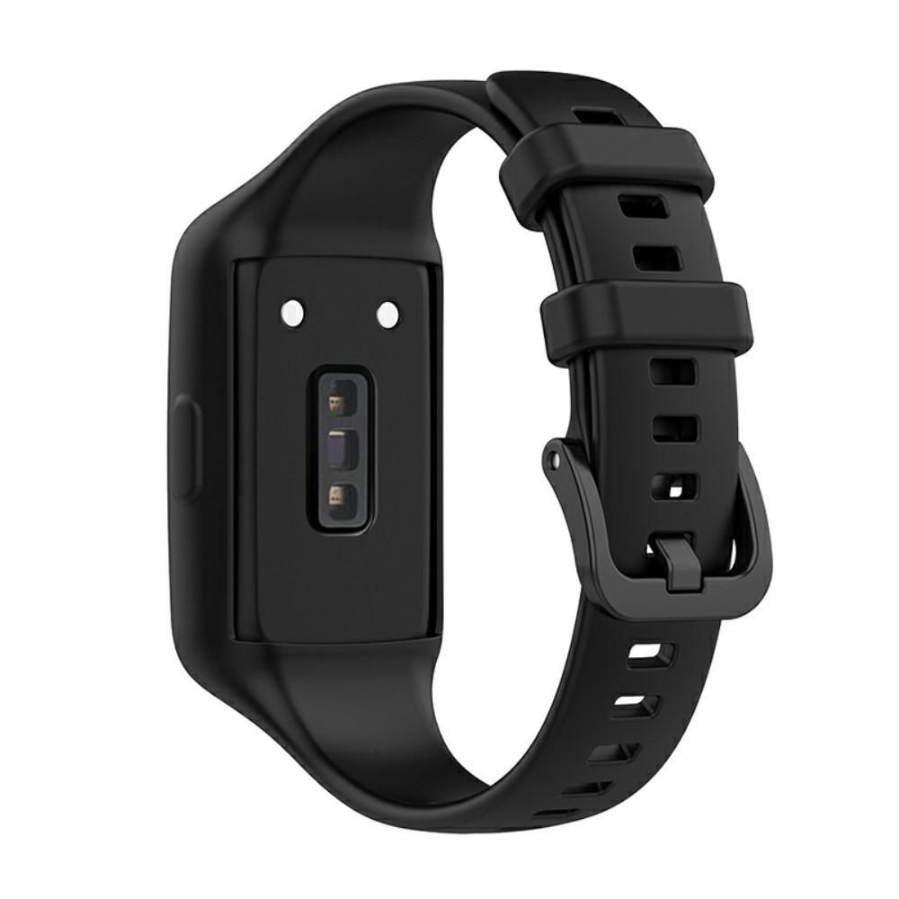 Silikoniranneke Huawei Band 6 musta