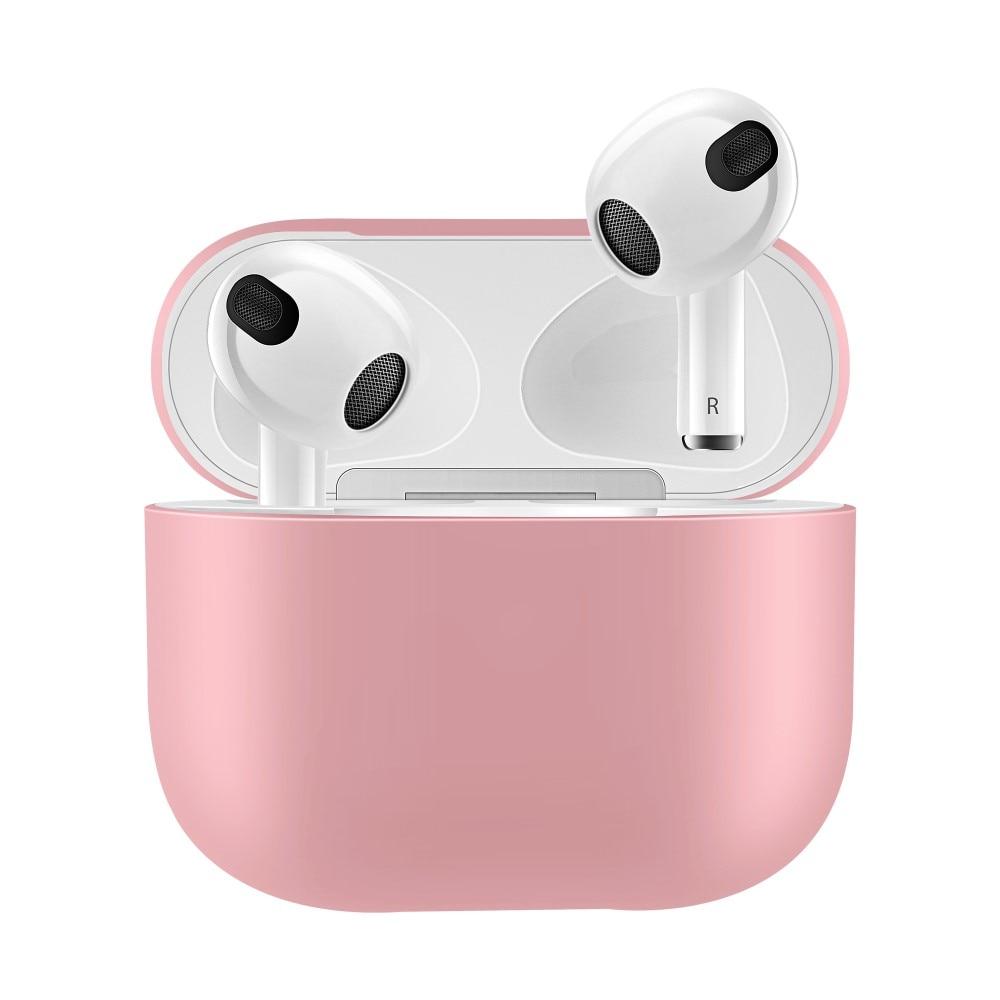 Silikonikotelo Apple AirPods 3 vaaleanpunainen