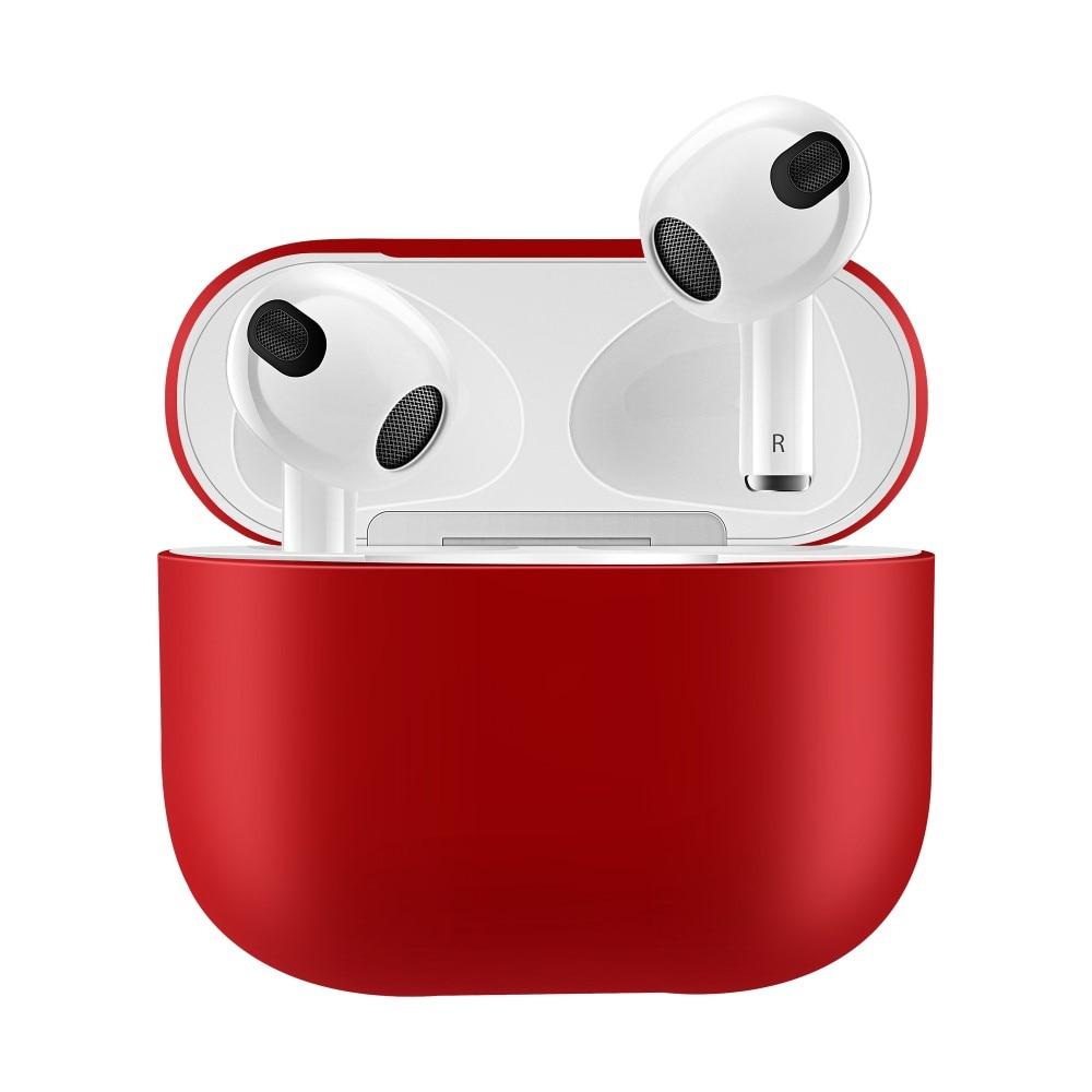 Silikonikotelo Apple AirPods 3 punainen