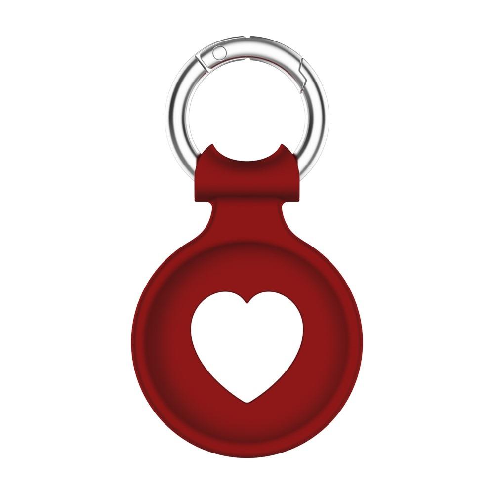 Sydän Silikonikuori Apple AirTag punainen