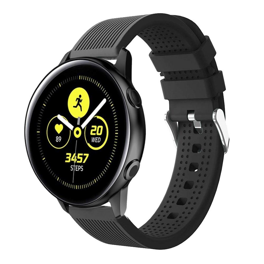 Silikoniranneke Samsung Galaxy Watch 4 Classic 42/46 mm musta