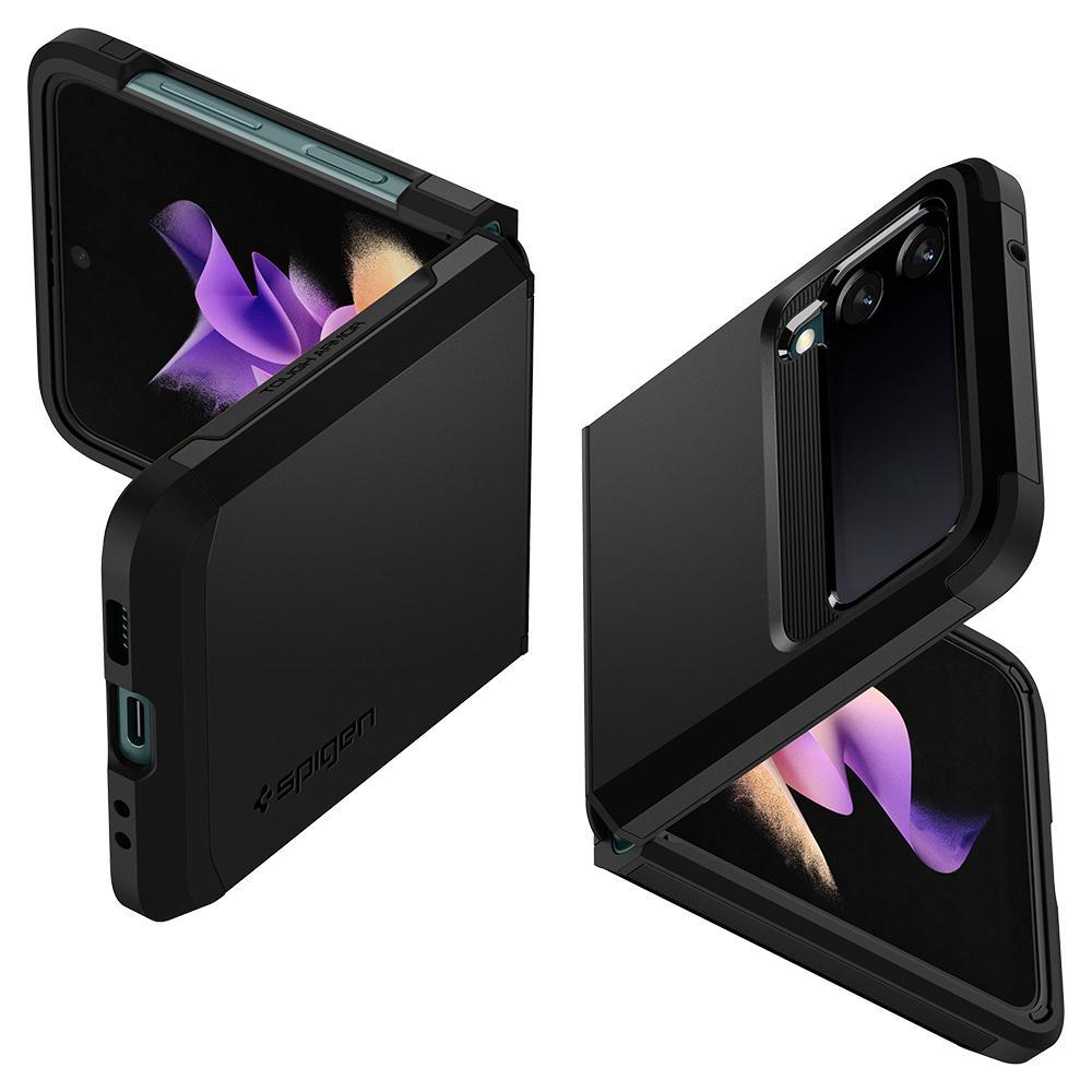 Galaxy Z Flip 3 Case Tough Armor Black