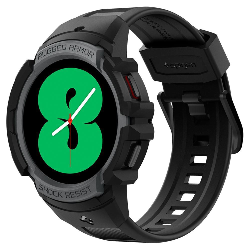 Galaxy Watch 4 44mm Case Rugged Armor Pro Black