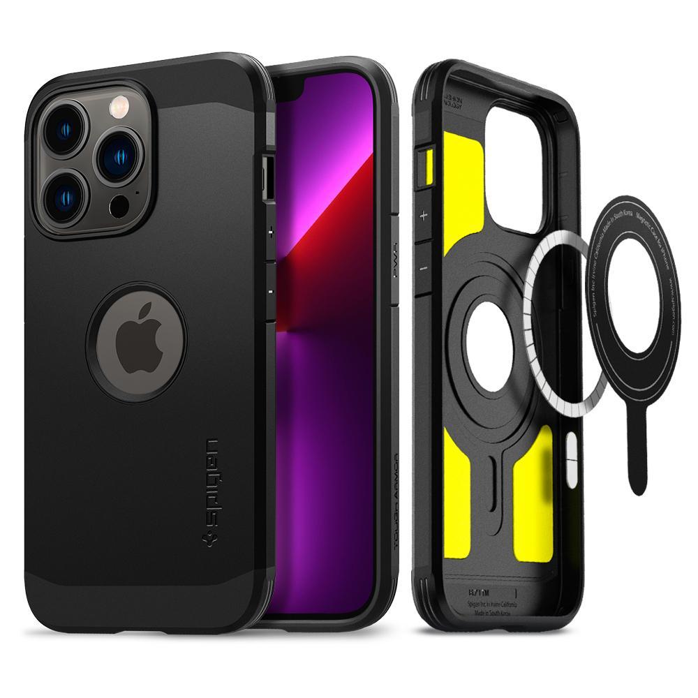 iPhone 13 Pro Case Tough Armor Mag Black