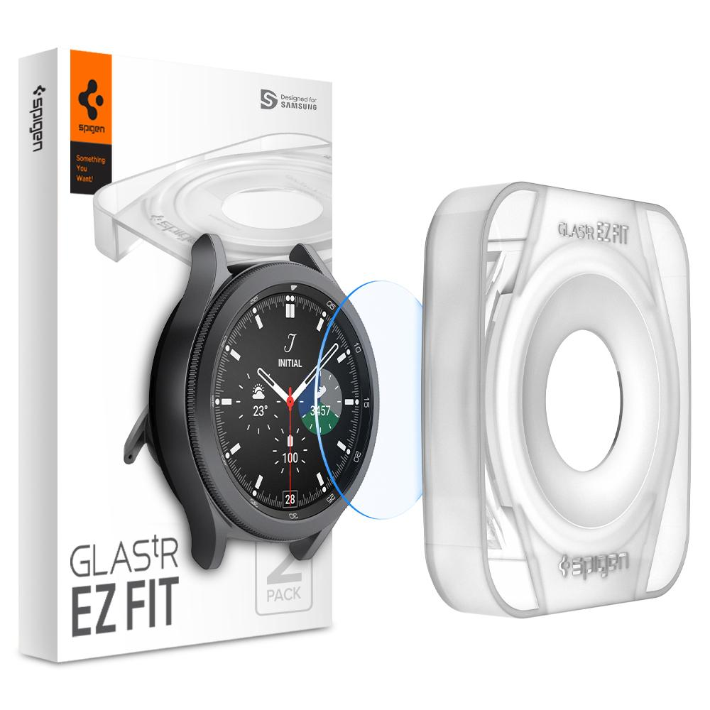 Galaxy Watch 4 Classic 42mm Screen Protector EZ Fit GLAS.tR (2-pack)