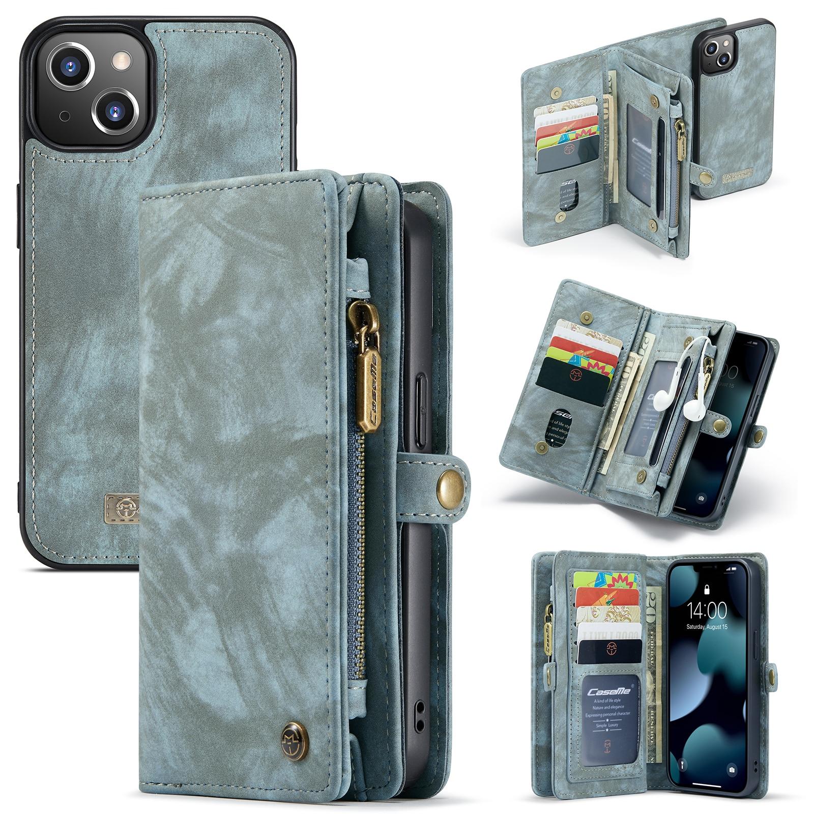 Multi-slot Suojakotelo iPhone 13 Mini sininen
