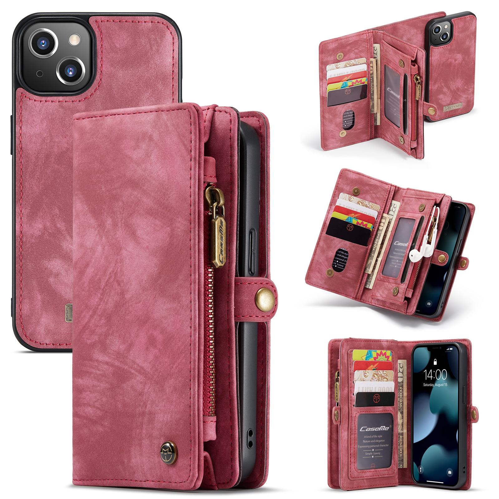 Multi-slot Suojakotelo iPhone 13 Mini punainen