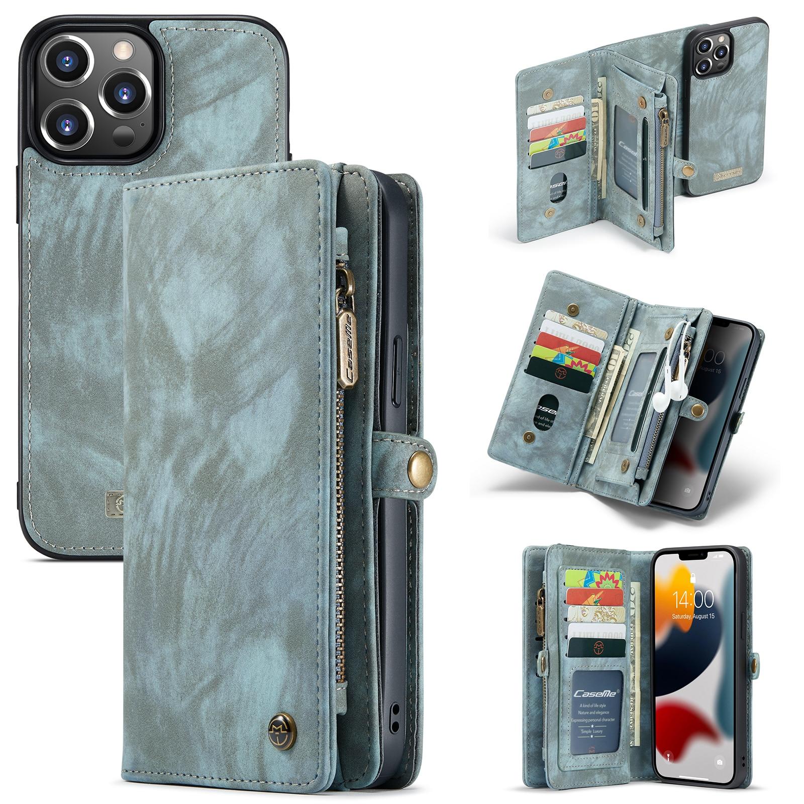 Multi-slot Suojakotelo iPhone 13 Pro Max sininen