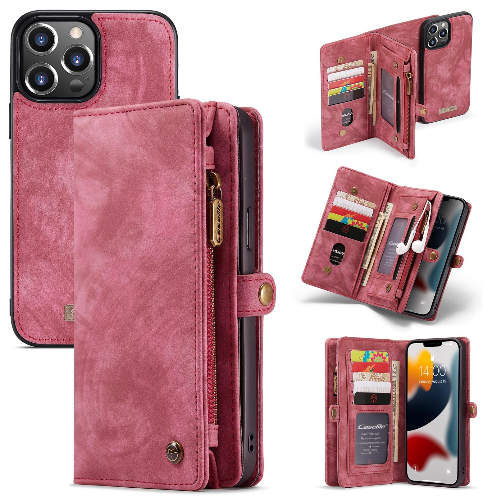 Multi-slot Suojakotelo iPhone 13 Pro punainen