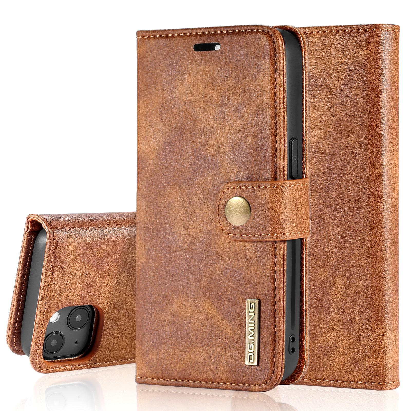 Magnet Wallet iPhone 13 Cognac