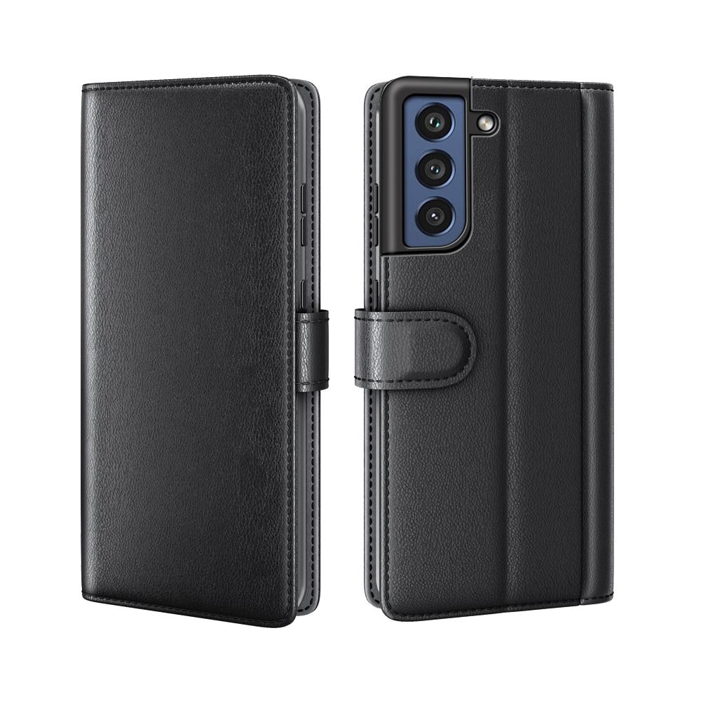 Aito Nahkakotelo Samsung Galaxy S21 FE musta