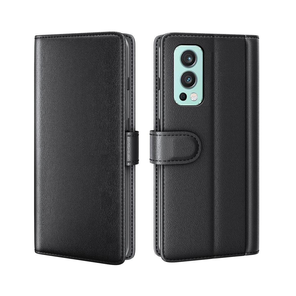 Aito Nahkakotelo OnePlus Nord 2 5G musta