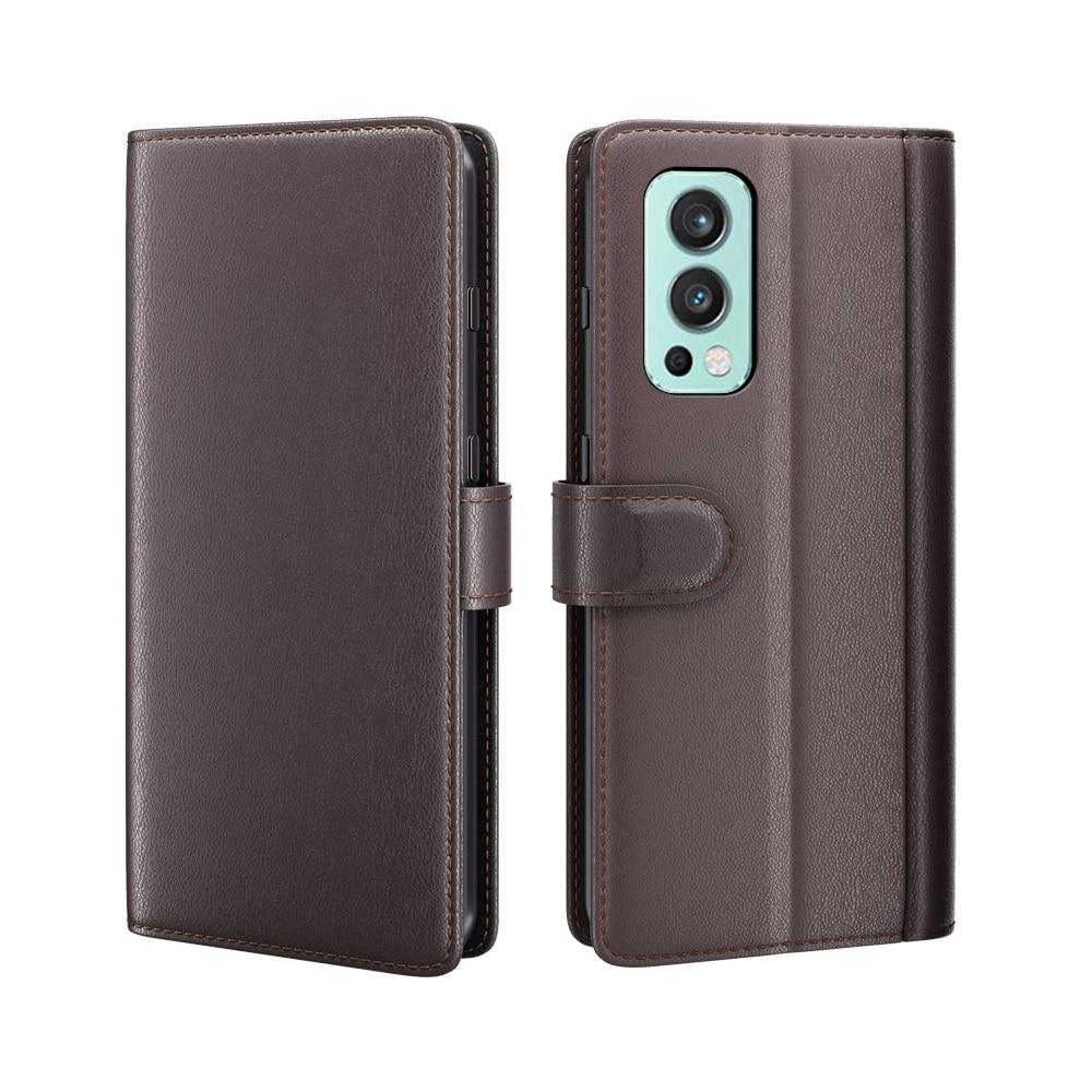 Aito Nahkakotelo OnePlus Nord 2 5G ruskea