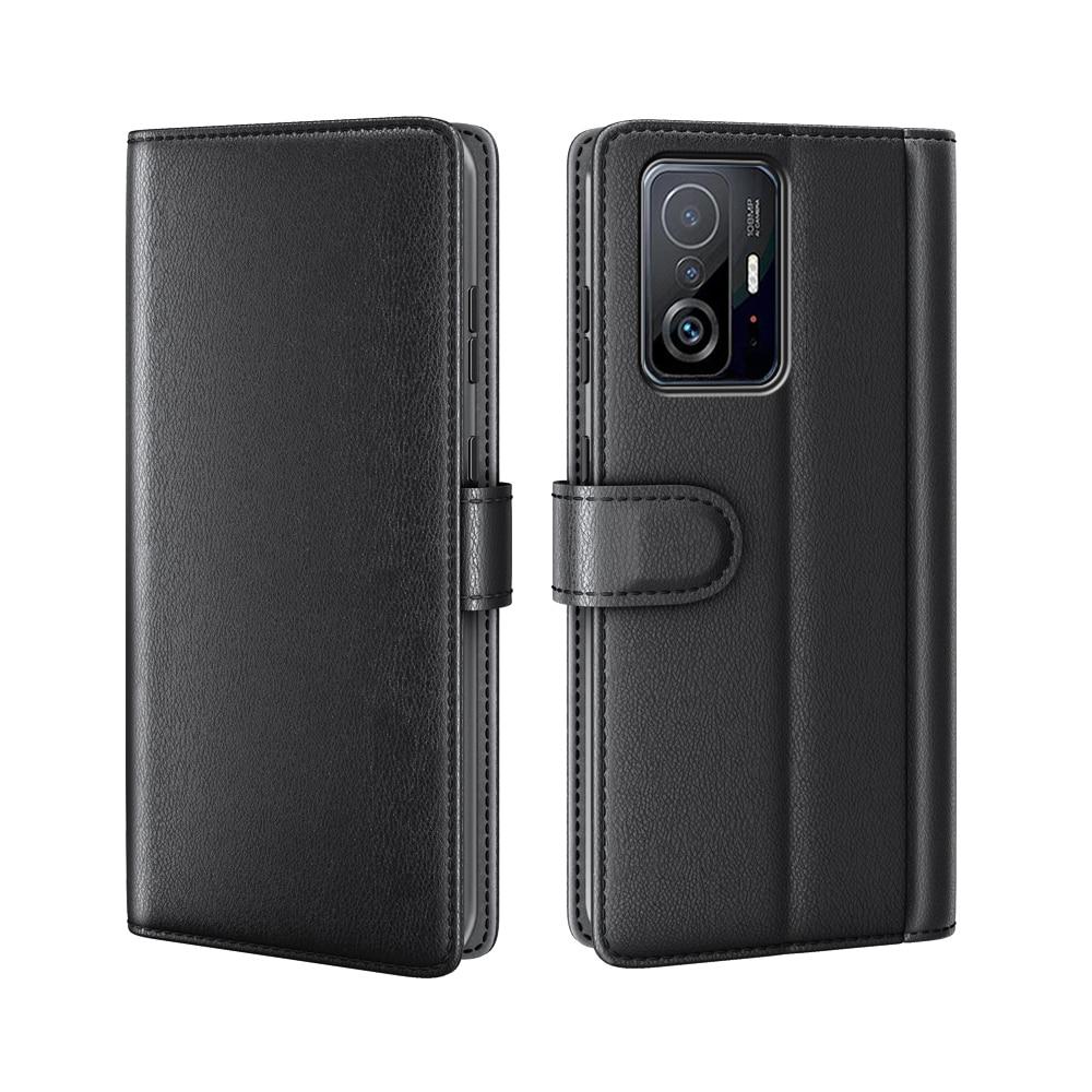 Aito Nahkakotelo Xiaomi 11T/11T Pro musta