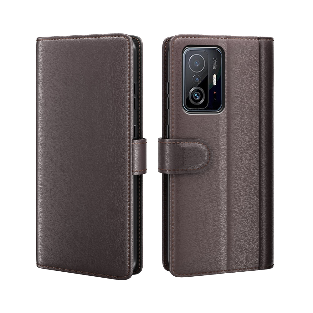 Aito Nahkakotelo Xiaomi 11T/11T Pro ruskea