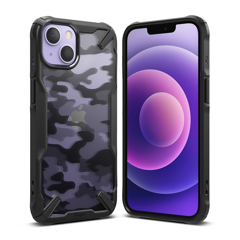 Fusion X Design Case iPhone 13 Camo Black