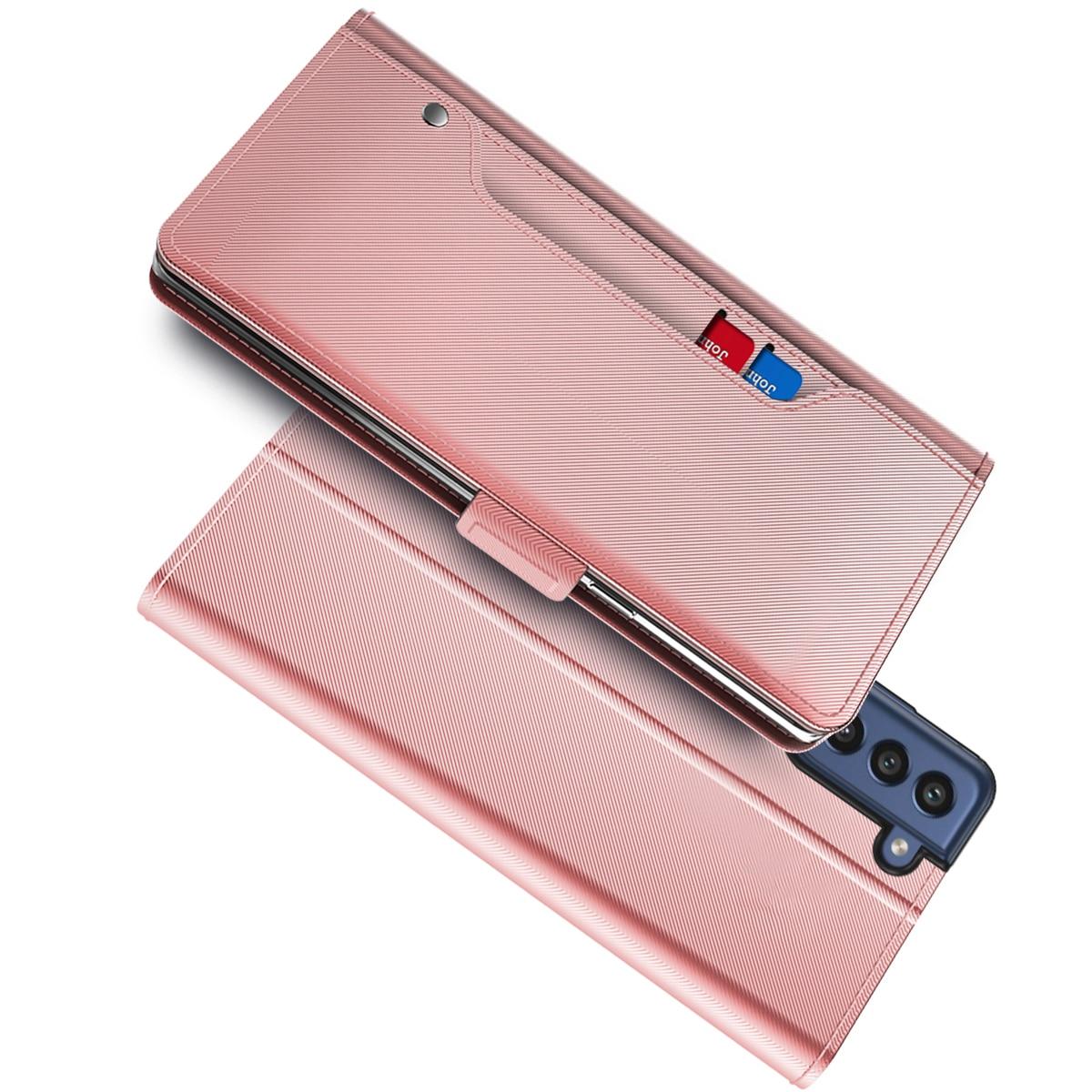 Suojakotelo Peili Galaxy S21 FE Vaaleanpunainen