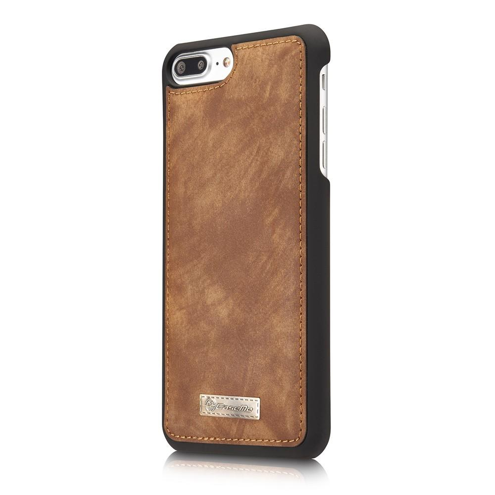 Multi-slot Suojakotelo iPhone 7 Plus/8 Plus ruskea
