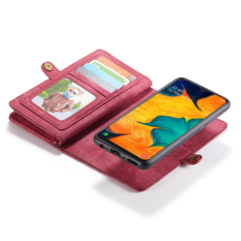 Multi-slot Suojakotelo Galaxy A40 punainen