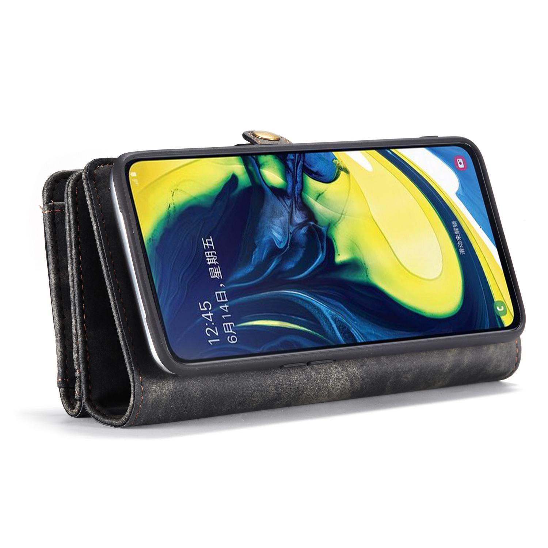 Multi-slot Suojakotelo Galaxy A80 harmaa