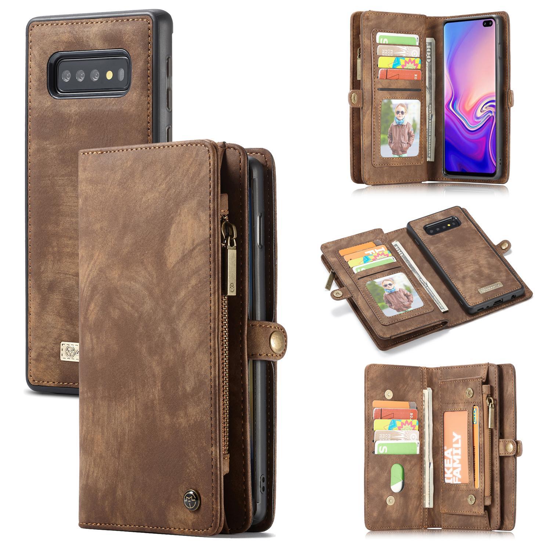 Multi-slot Suojakotelo Galaxy S10 Plus ruskea