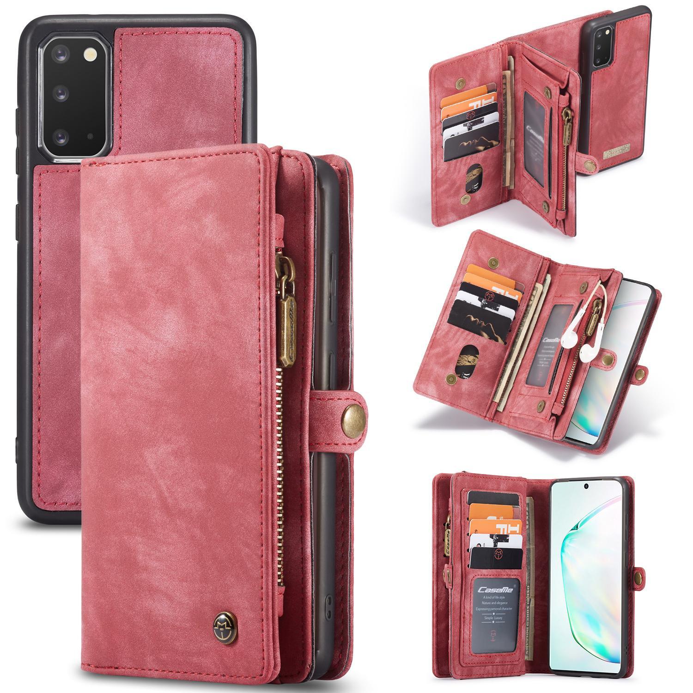 Multi-slot Suojakotelo Galaxy S20 punainen