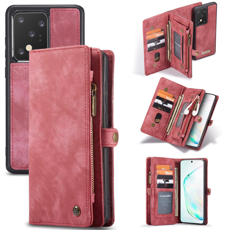 Multi-slot Suojakotelo Galaxy S20 Ultra punainen