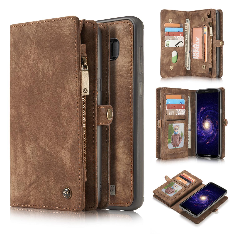 Multi-slot Suojakotelo Galaxy S8 ruskea