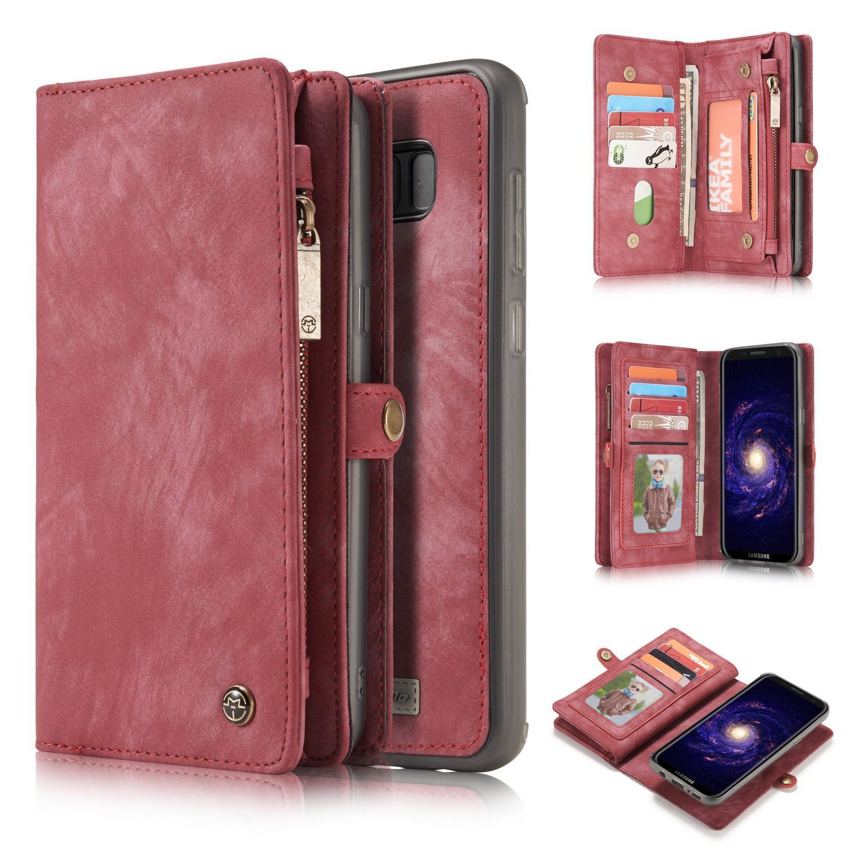 Multi-slot Suojakotelo Galaxy S8 Plus punainen