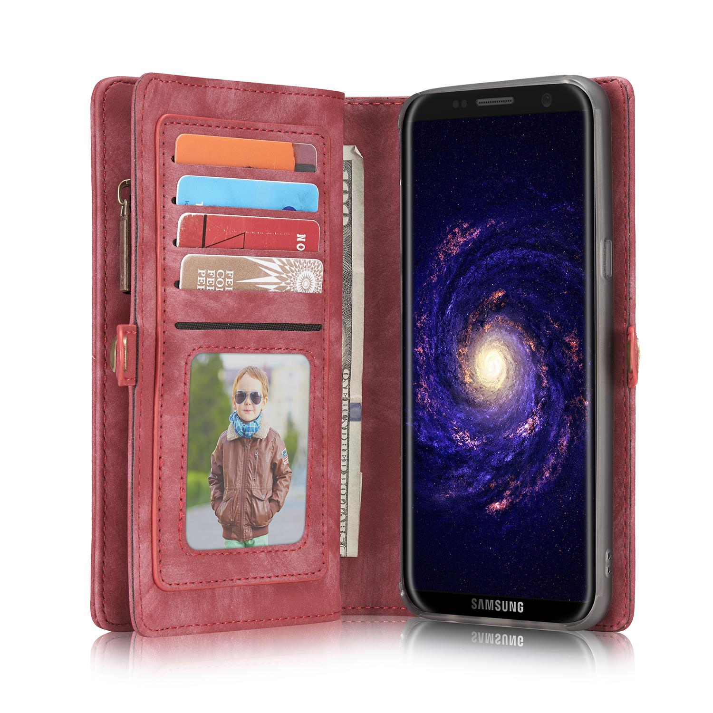 Multi-slot Suojakotelo Galaxy S8 punainen