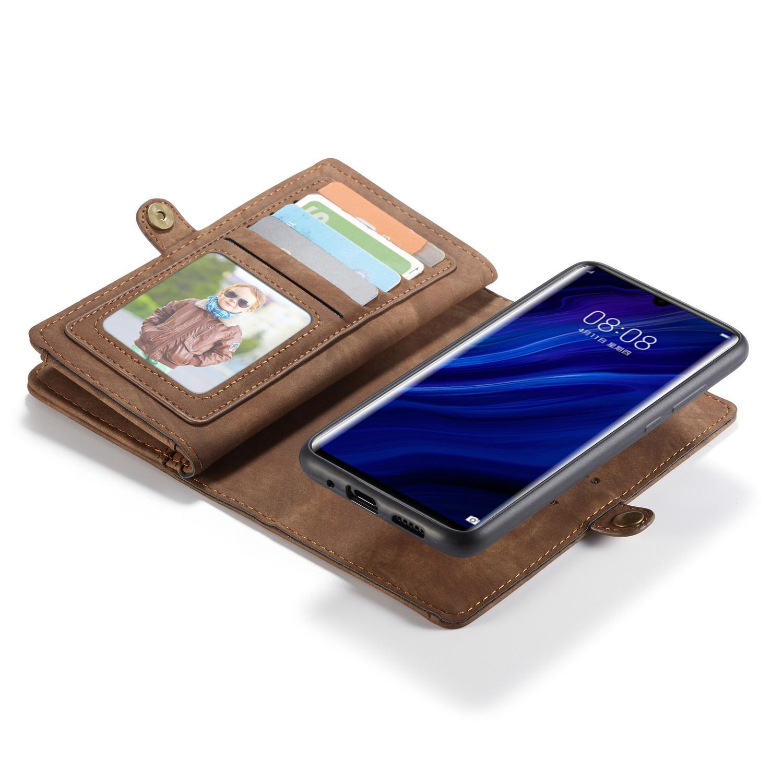 Multi-slot Suojakotelo Huawei P30 Pro ruskea