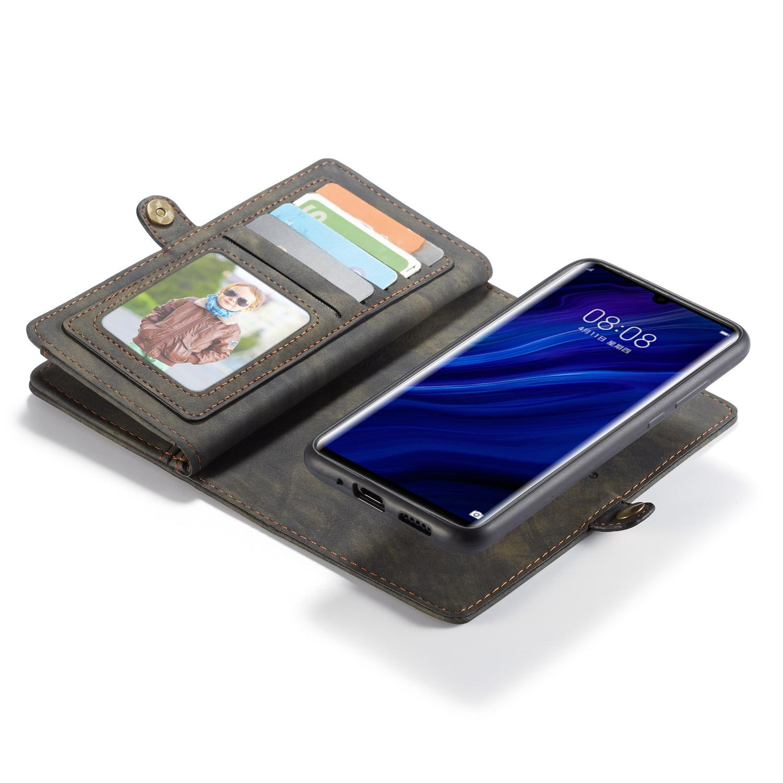 Multi-slot Suojakotelo Huawei P30 Pro harmaa