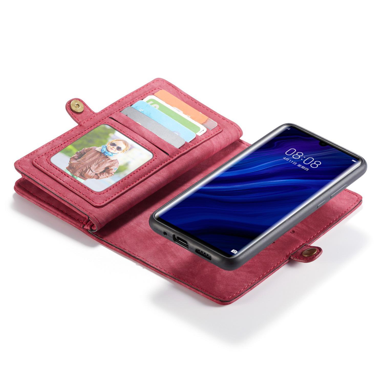 Multi-slot Suojakotelo Huawei P30 Pro punainen