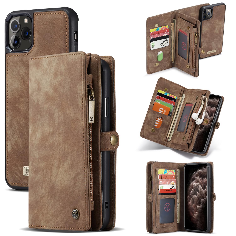 Multi-slot Suojakotelo iPhone 11 Pro ruskea