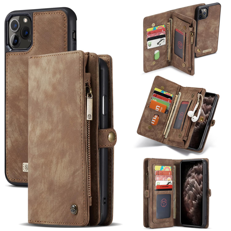 Multi-slot Suojakotelo iPhone 11 Pro Max ruskea