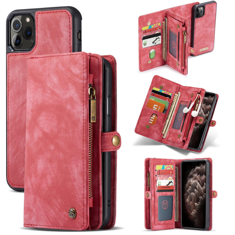 Multi-slot Suojakotelo iPhone 11 Pro Max punainen