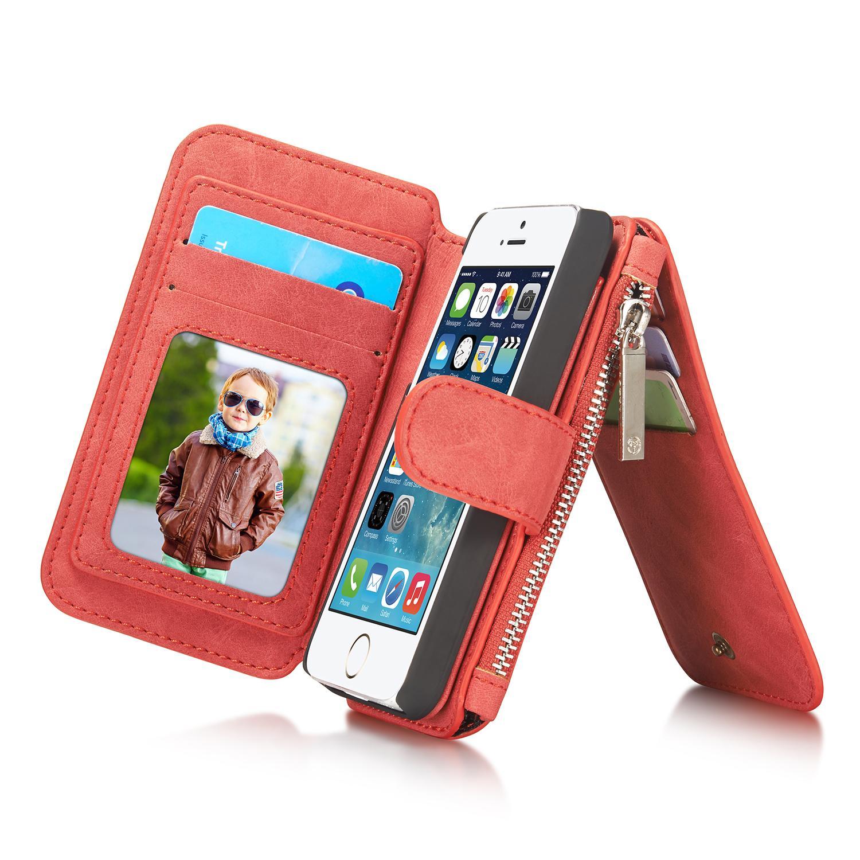 Multi-slot Suojakotelo iPhone 5/5S/SE punainen