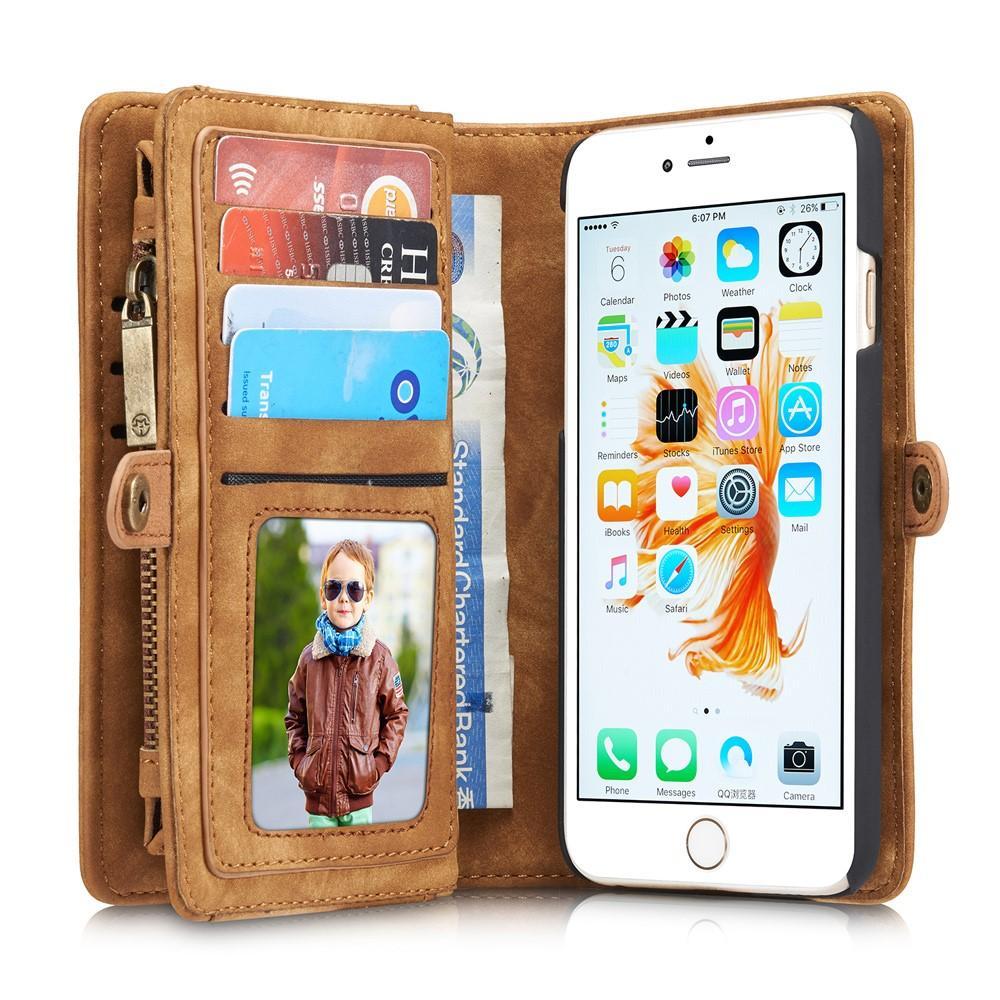 Multi-slot Suojakotelo iPhone 6 Plus/6S Plus ruskea