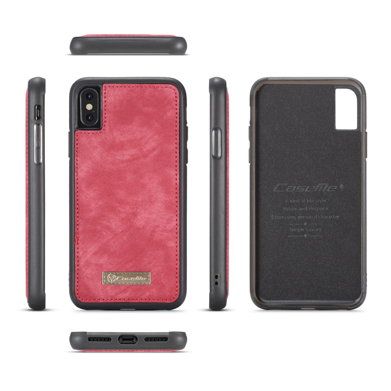 Multi-slot Suojakotelo iPhone X/XS punainen