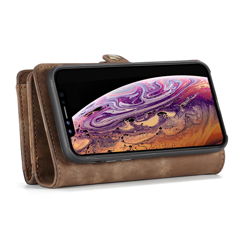 Multi-slot Suojakotelo iPhone XR ruskea