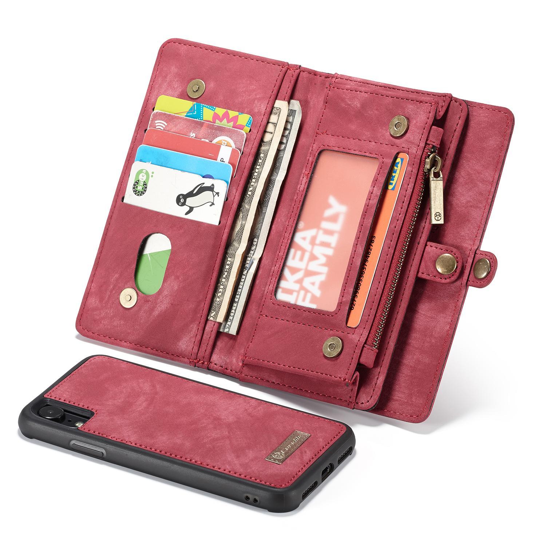 Multi-slot Suojakotelo iPhone XR punainen