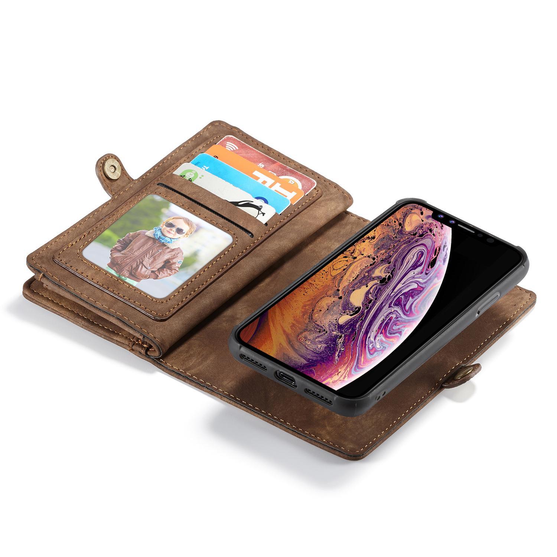 Multi-slot Suojakotelo iPhone XS Max ruskea