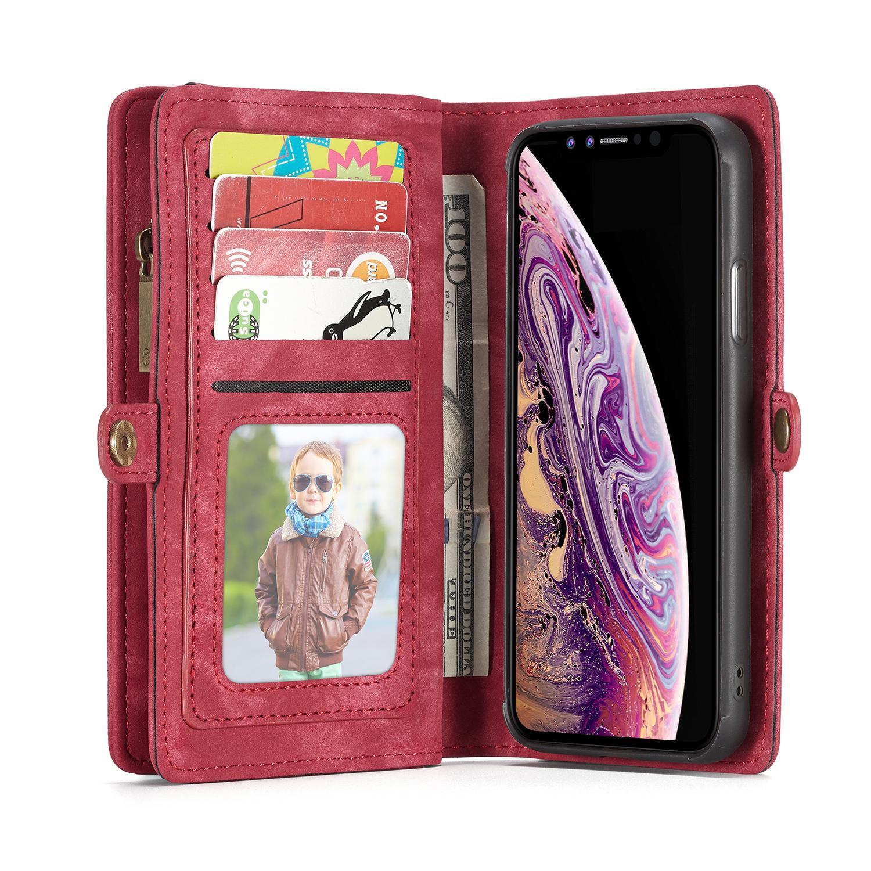 Multi-slot Suojakotelo iPhone XS Max punainen