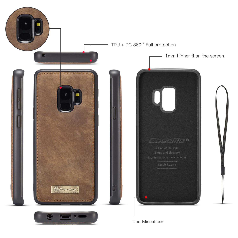 Multi-slot Suojakotelo Samsung Galaxy S9 ruskea