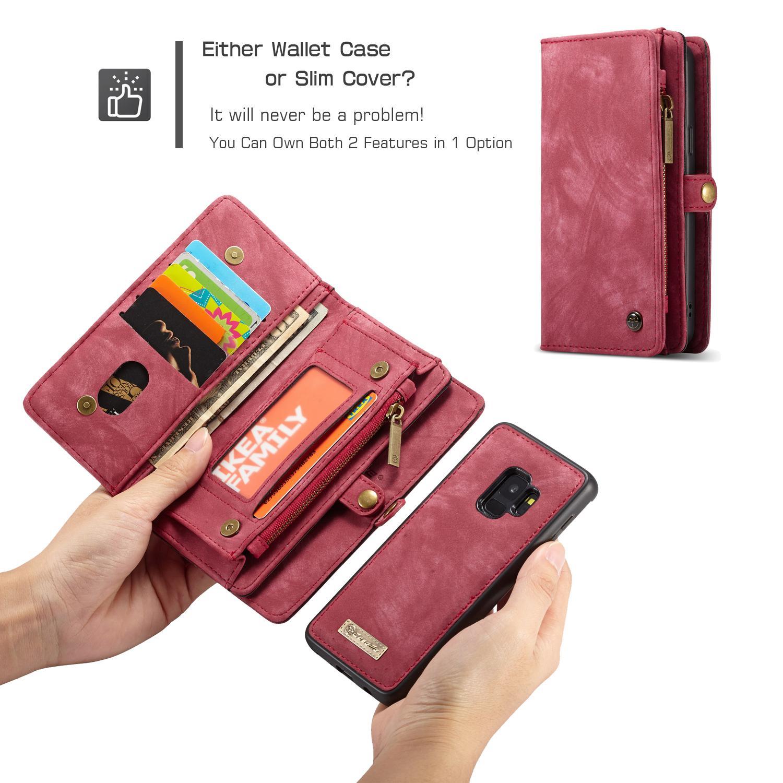 Multi-slot Suojakotelo Samsung Galaxy S9 punainen